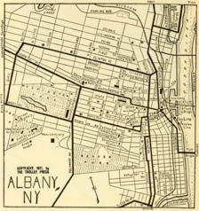 albany trolley map 1911