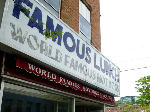famous lunch sign closeup