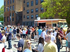 food truck festival troy 2013 slidin dirty crowd