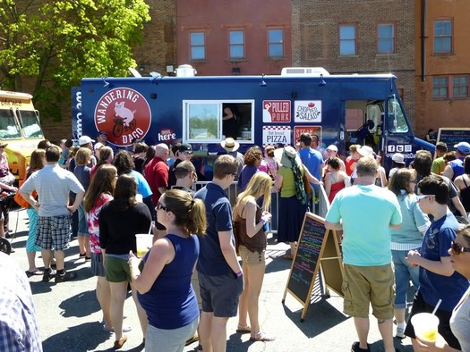 food truck festival troy 2013 wandering dago truck crowd