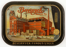 albany institute beverwyck beer tray