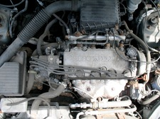 car engine under hood
