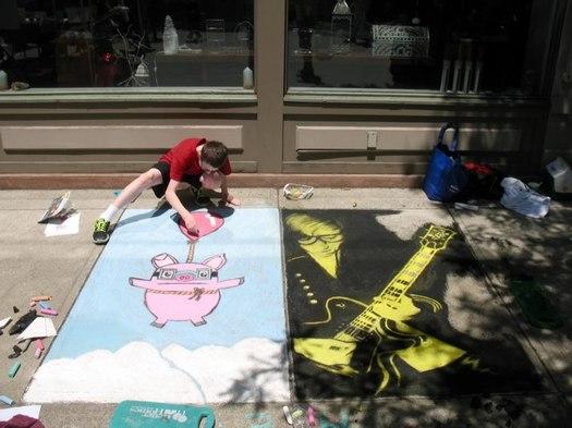 troy river street festival 2013 sidewalk painting