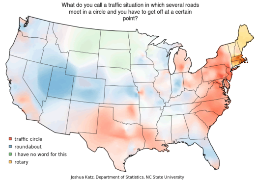 traffic circle dialect map
