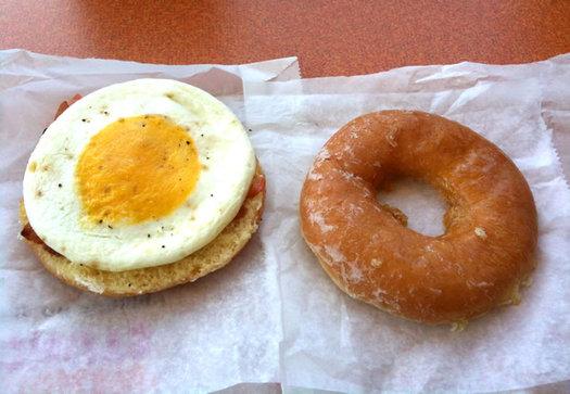 dunkin donuts donut sandwich split apart