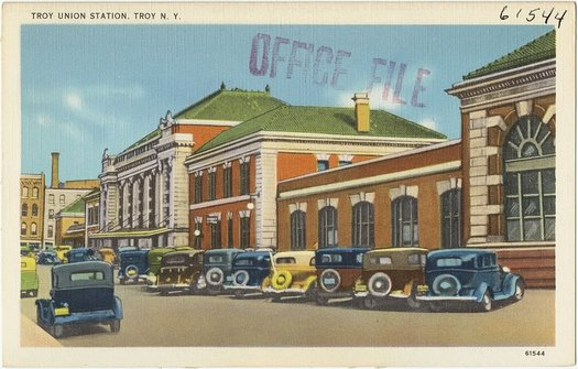 old Troy Union Station postcard