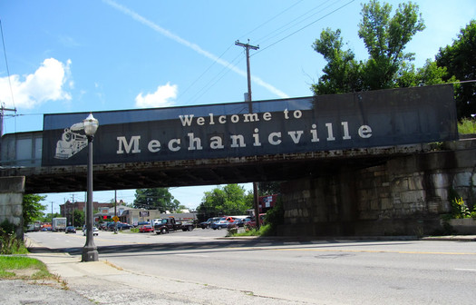 welcome to mechanicville sign