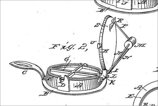 Troy resident Cornelious Swarthout waffle iron patent figure 1869