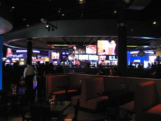 dave and busters bar area