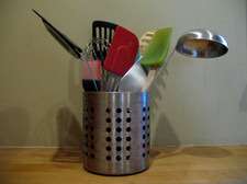 kitchen tools in holder