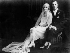 1920s wedding portrait