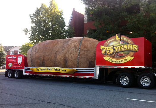 giant potato truck in Troy