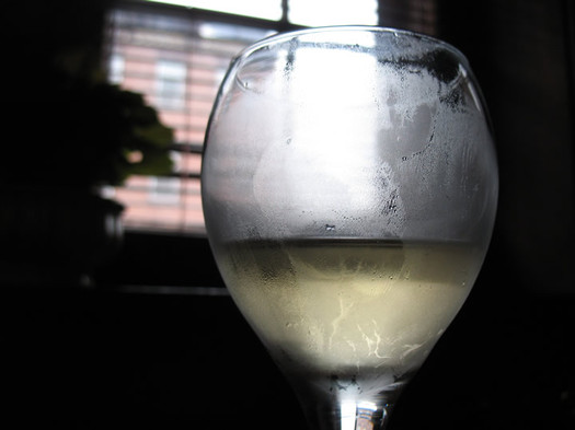 glass of nine pin cider
