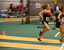 indoor track meet running