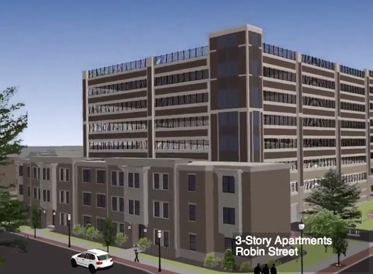 park south parking garage rendering 2013 Robin