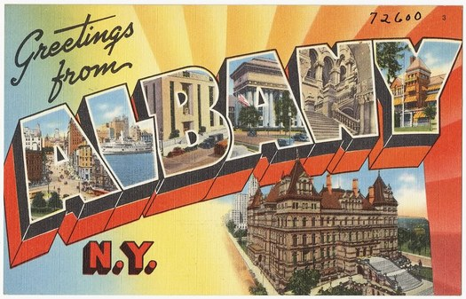 vintage postcard greetings from Albany