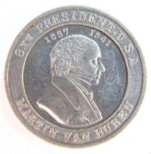 martin van buren portrait coin 1930s