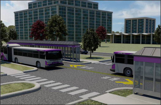 proposed cdta busplus busway harriman campus