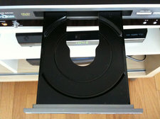 DVD player tray open