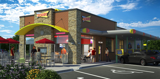 sonic indoor seating location rendering