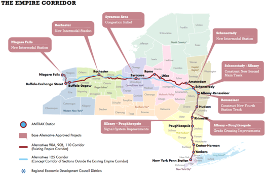 Map Of New York Rail System.Thinking About High Speed Rail In New York All Over Albany