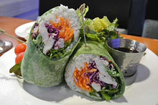 Reel Seafood Co banh mi wrap