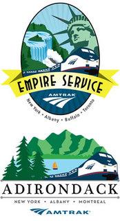 amtrak empire service and adirondack badges