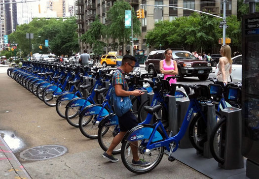 citi bike rack manhattan 2013