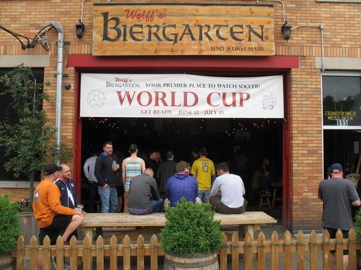 wolffs biergarten exterior world cup 2014