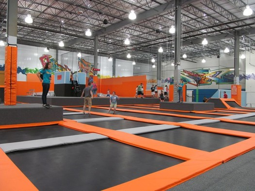 flight trampoline park albany interior