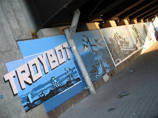 TroyBot mural