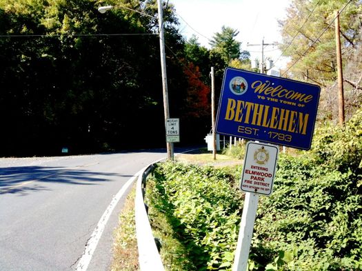 welcome to Bethlehem NY sign
