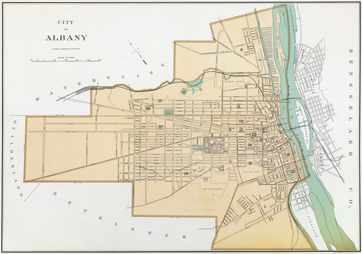 Albany New York map 1895