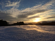 capital hills sunset blowing snow 2015-01-30