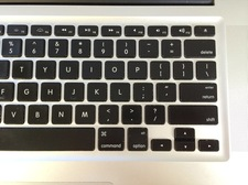 section of laptop computer keyboard