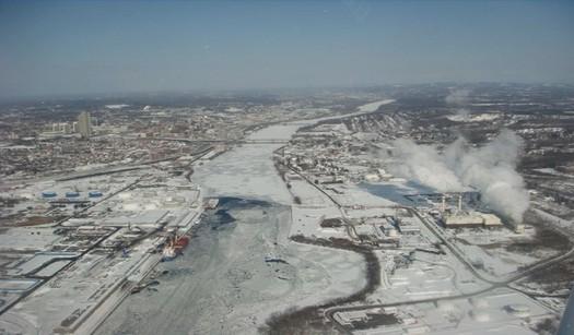 US Coast Guard Hudson River ice flight Albany 2015-02-06