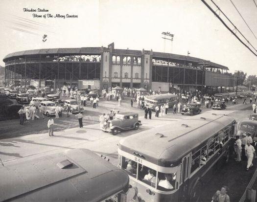 Hawkins Stadium c 1950 Menands