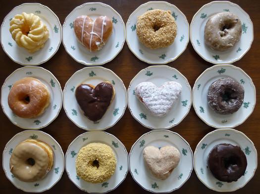 dunkin donuts mixed dozen overhead