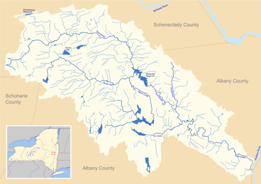 Normanskill watershed map