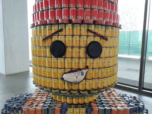 Canstruction 2015 Emmet from The LEGO Movie