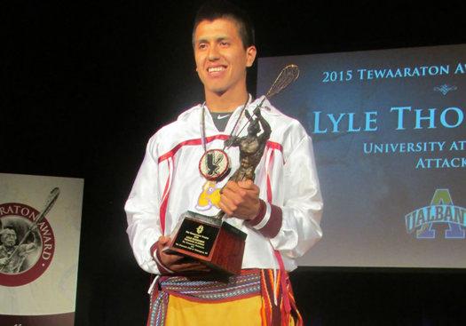 ualbany lyle thompson Tewaaraton trophy 2015