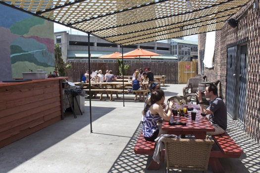 City Beer Hall outside patio