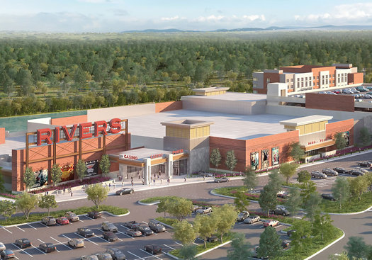 Schenectady Rivers Casino rendering 2015-June Aerial View cropped