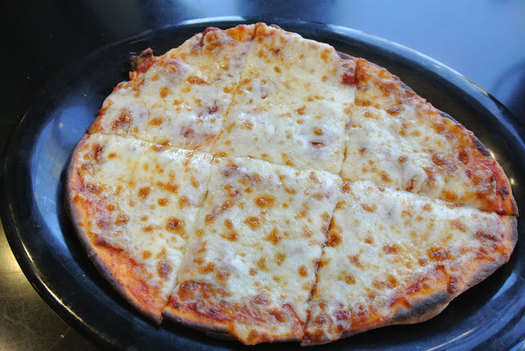 a better bite naan pizza cheese and sauce