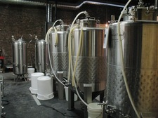 brewery equipment at Rare Form in Troy