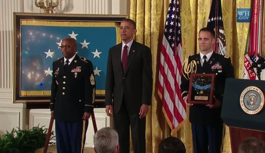 henry johnson medal of honor white house