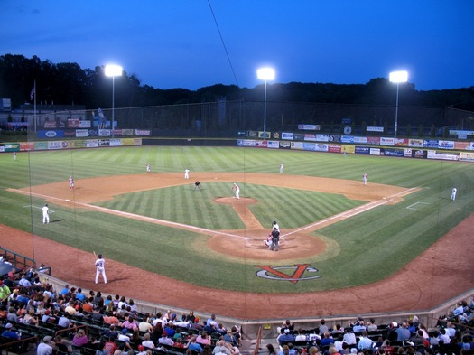 tri-city valleycats night game at the joe