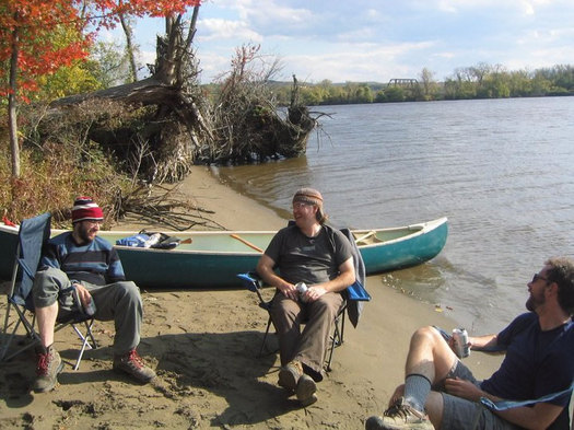 Duncans_friends_Roger_Philip_and_Ian_on_Middle_Ground_Flats_island