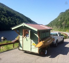 green lantern tiny mobile cabin AirBnB