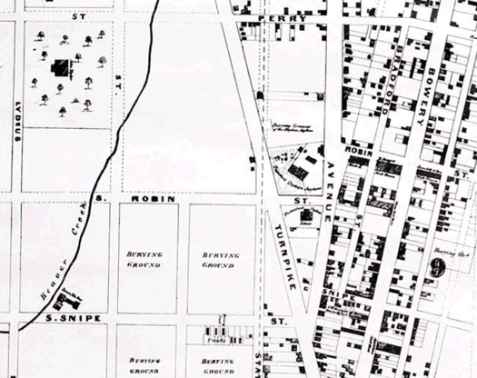 1857 Map of Albany cropped